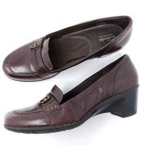 Clarks Loafer Pumps Split Toe Slip On Comort Shoes